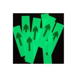 Flèches phosphorescentes autocollantes