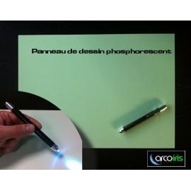 Panneau de dessin phosphorescent avec stylo lumineux