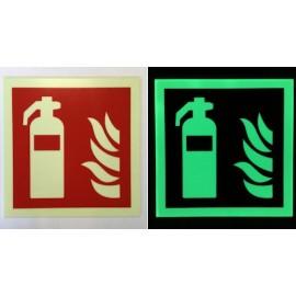 Plaque PVC Phosphorescente - Extincteur Incendie - F001