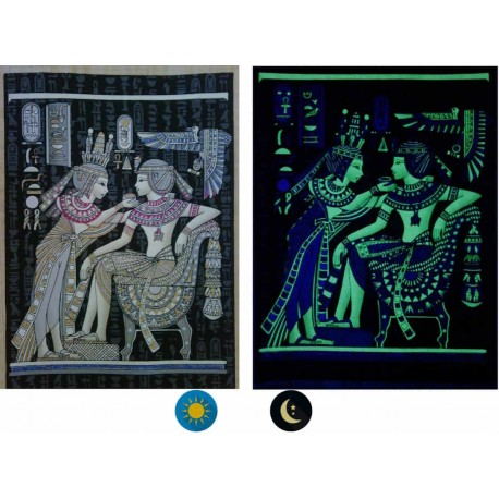 """Papyrus photoluminescents fabriqués en Egypte - """"collection Egypte des pharaons"""""""