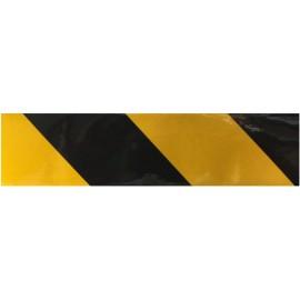 Bande adhésive jaune et noir réfléchissante 5m ou 45.7m