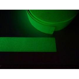 Bande rugueuse photoluminescente antidérapante autocollante