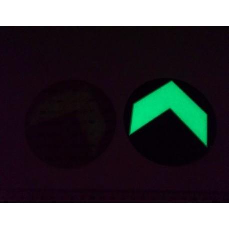 Flèche adhésive de sol photoluminescente